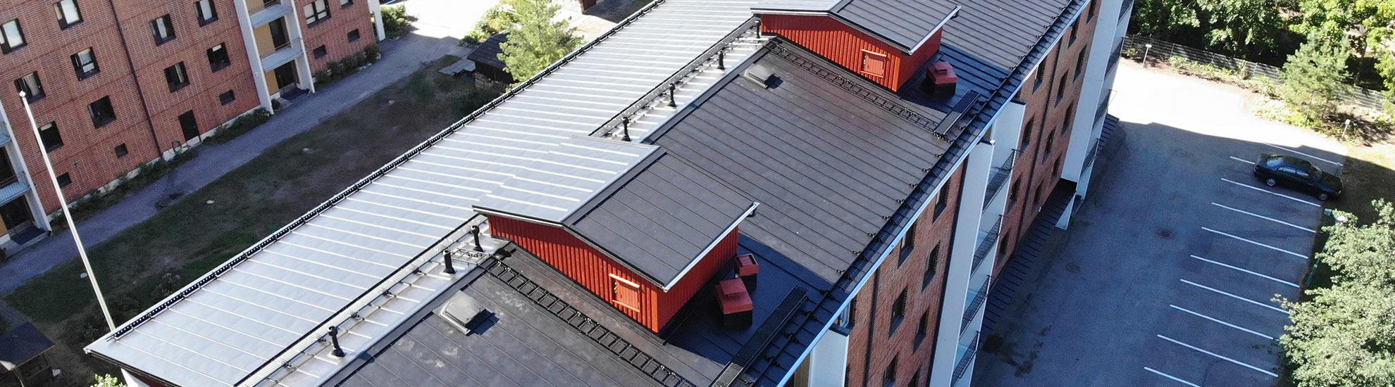 Kattojen urakoinnit rakennusliikkeille - Henberg Oy